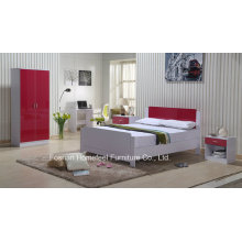Ikea Style High Gloss Red Kids Bedroom Set