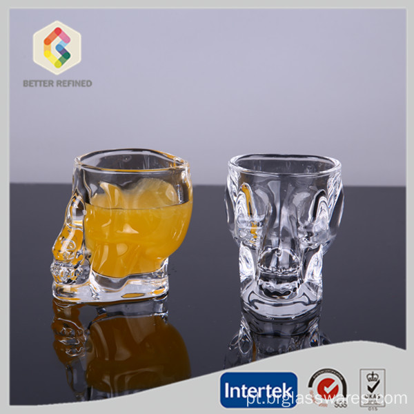 Copo de vidro de 50 ML Crystal Skull Head Shot