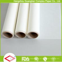 "OEM 12 ""Largura antiaderente Silicone revestido rolo de papel de cozimento"