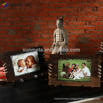 Sunmeta sublimation wooden rock photo frame wall hanging SH39