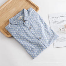 Chemise régulière imprimée à manches longues pour hommes