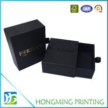 Custom Black Slide out Cardboard Bracelet Paper Drawer Gift Box