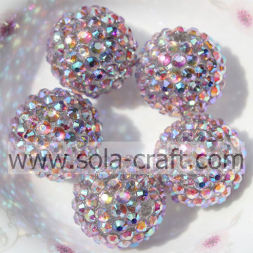 Grosso resina strass perline 20 * 22MM per rosa collana Multicolor