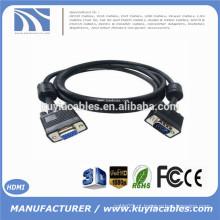15Pin VGA cabo de extensão Masculino para Feminino para computador Project Monitor 5M