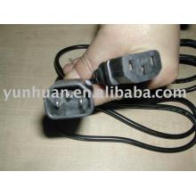 IEC Har RoHS padrão Power Chord cabo SJT SVT H05VV-F