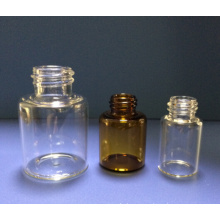 Clear and Amber Tubular Screwed Glass Bottle with Small Mouth