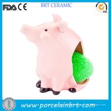 Ceramic Wholesale Pig Scrub Sponge Holder