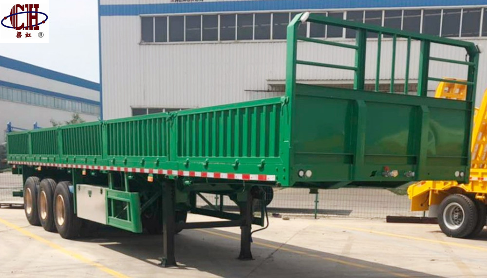 Low Price Sidewall Cargo Flatbed Low Flatbed
