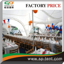 Outdoor luxury aluminum frame canopy tent with PVC windows/lining and curtains for exhibition /trade show