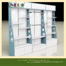 Exhibición del soporte del piso de madera para el almacén al por menor