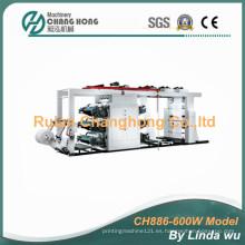 Máquina de impresión tejida de la flexografía del bolso de seis colores PP (CH886-600W)