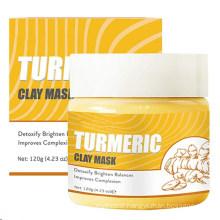 Turmeric Clay Face Mask Skin Brightening Lightening Acne Scars Masks