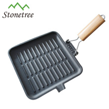 High quality cast iron grill pan/plate with removable handle