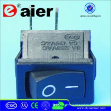 Interrupteur à bascule électrique avec deux broches de coin