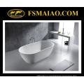 Современная мода Смолаы камня глянцевый Белый freestanding Ванна (БС-8612)