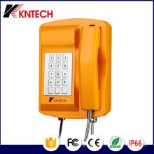 Teléfono de servicio pesado Previsión del tiempo IP66 Knsp-18 Teclado de metal Kntech