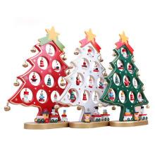 décoration d'arbre de Noël en bois artificiel