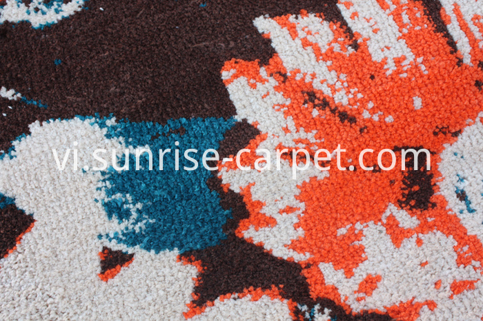 Microfiber Carpet with Flower Design