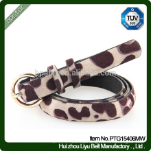 2015 New Style Girls Fashion Girls Thin Olive Buckle Animal Print Belts