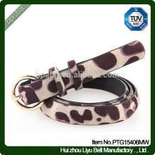 2015 New Style Girls Fashion Girls Thin Olive Buckle Animal Print Belts