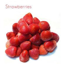 Suministro de fresa congelada rápida / fresas a granel