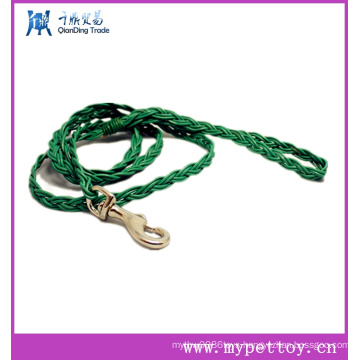 Beautiful Red Rope and Black Leather Dog Leash