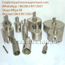 Electroplated Diamond Core Drill Bits for glass, crystal, fiberglass miya@moresuperhard.com