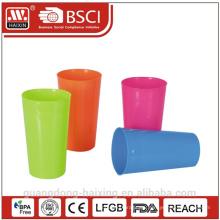 Coloridos alimentos grado 640ml plástico taza taza