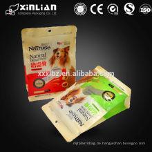 Kraft laminierte Plastiktüte für Nuss-Snack-Verpackung mit seitlichem Zwickel