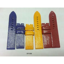 16mm 18mm 20mm 22mm Stingray Leather Watchband Blue, Red, Yellow, Custom Watch Band Strap