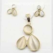 Costume moda de aço inoxidável conjunto de jóias para decoração