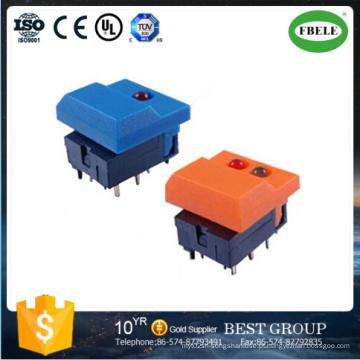 Interruptor de botão de pressão de alta qualidade Interruptor de botão de pressão de travamento (FBELE)
