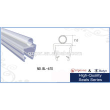 Sello transparente transparente de la puerta de cristal del PVC
