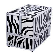Caja de almacenaje cosmética de aluminio, caja de belleza profesional