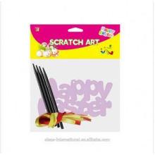 Cadeau et artisanat enfants enfants gratter papier d'art, Pâques Scratch, bricolage faire papier d'art de gratter