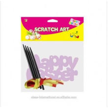 gift and craft kids children scratch art paper, Easter Scratch,DIY make scratch art paper