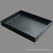 A4 Leather Document File Tray Fruit / Dinner Tray