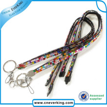Promotion Retractable Rhinestone Crystal Lanyard
