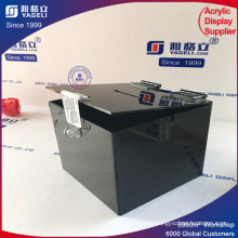 Low Price Open Top Lid Acrylic Donation Can
