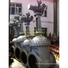 Flanged Dn700 Pn16 Cast Steel Electric Actuator Gate Valve