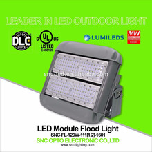 O UL DLC alistou a luz de inundação exterior do diodo emissor de luz de 120 watts com o suporte do suporte curto / longo