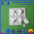 0.5g Blister Emballage de comprimé de dioxyde de chlore pour boire de l'eau