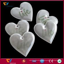 Réflecteurs de keychain de PVC colorés mous réfléchissants pour la sécurité