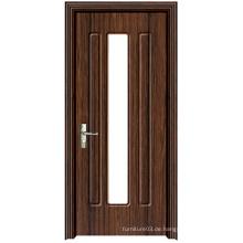 Heiße Verkaufs-Qualitäts-PVC-hölzerne Tür mit Art- und Weiseentwurf