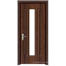 Puerta de madera caliente del PVC de la alta calidad de la venta con diseño de la manera