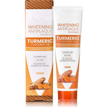 Natural Herbal Turmeric + Coconut Oil Whitening Antiplaque Toothpaste