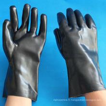 Gants de sécurité industriels anti-glissement à base d'acide et alcalins en PVC