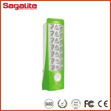18h luz de plástico brilhante ao ar livre USB LED lanterna de emergência