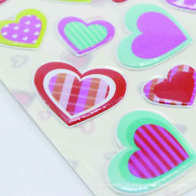 Calor dado forma cortou o coração da etiqueta da impressão que imprime a etiqueta inchado das crianças decorativas