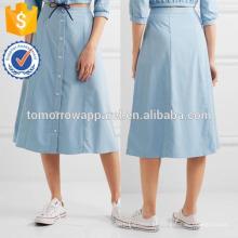 Nova Moda Jersey Saia Midi DEM / DOM Fabricação Atacado Moda Feminina Vestuário (TA5162S)